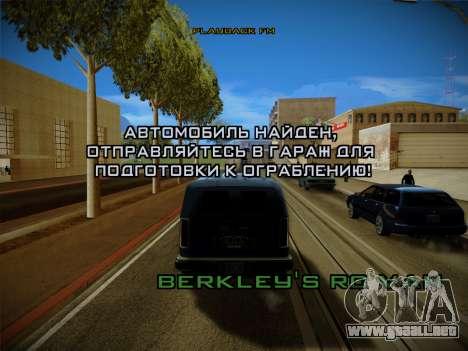 Sistema de robos v4.0 para GTA San Andreas séptima pantalla