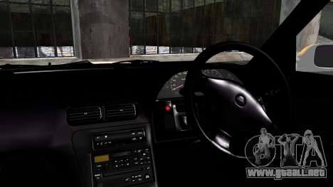 Nissan Silvia S13 Camber Style para GTA San Andreas vista posterior izquierda