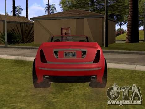 Cognoscenti Cabrio para GTA San Andreas vista posterior izquierda