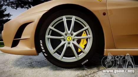 Ferrari F430 Scuderia 2007 plate F430 para GTA 4 vista hacia atrás