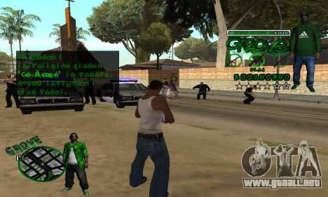 C-HUD Groove para GTA San Andreas sucesivamente de pantalla
