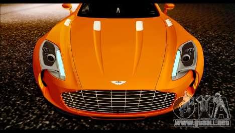 Aston Martin One-77 Black para la visión correcta GTA San Andreas