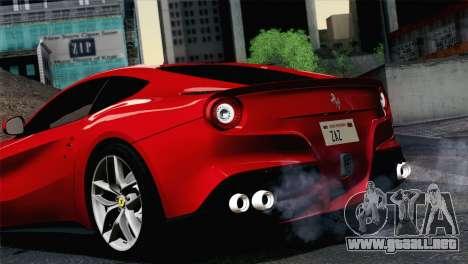 Ferrari F12 Berlinetta 2013 para GTA San Andreas vista posterior izquierda