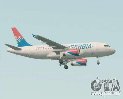 Airbus A319-100 Air Serbia para la visión correcta GTA San Andreas