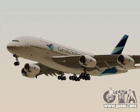 Airbus A380-800 Garuda Indonesia para visión interna GTA San Andreas