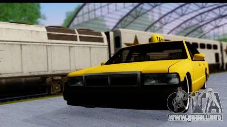 Slammed Taxi para GTA San Andreas vista posterior izquierda