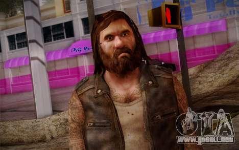 Francis from Left 4 Dead Beta para GTA San Andreas tercera pantalla