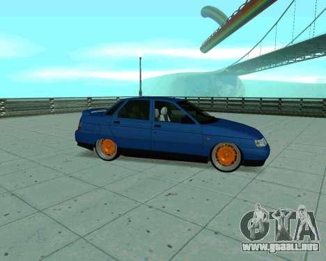 De los FLOREROS 2110 Taxi para GTA San Andreas vista posterior izquierda