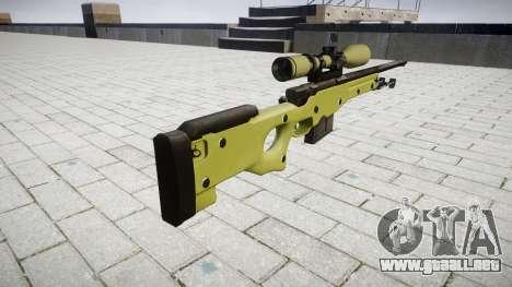Sniper rifle AWP para GTA 4 segundos de pantalla