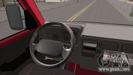 Iveco Daily 35 P para GTA San Andreas vista posterior izquierda