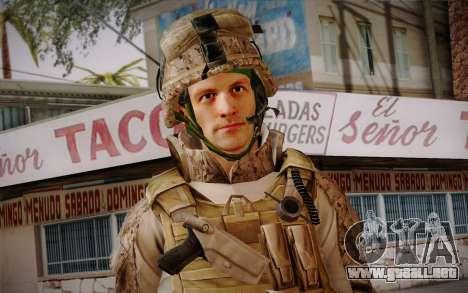 Blackburn from Battlefield 3 para GTA San Andreas tercera pantalla