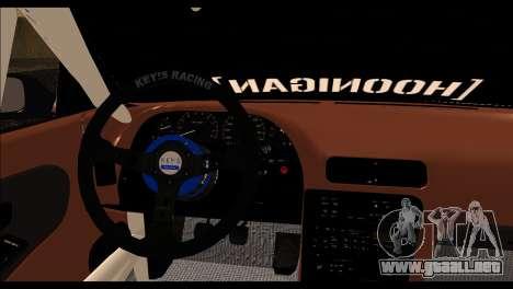 Nissan Silvia S13 Fail Crew v2 para GTA San Andreas vista posterior izquierda