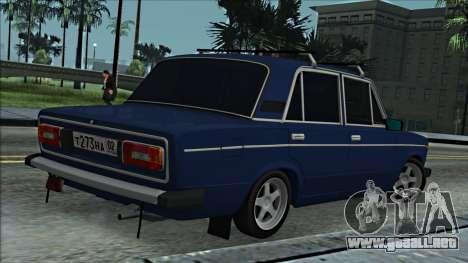 ВАЗ 2106 estilo ruso 2.0 para la visión correcta GTA San Andreas