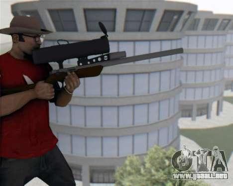 TF2 Sniper Rifle para GTA San Andreas tercera pantalla
