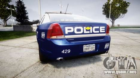 Chevrolet Caprice 2012 LCPD [ELS] v1.1 para GTA 4 Vista posterior izquierda