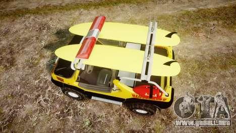 Ford Intruder Lifeguard Beach [ELS] para GTA 4 visión correcta