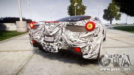 Ferrari 458 Italia 2010 v3.0 Sharpie para GTA 4 Vista posterior izquierda
