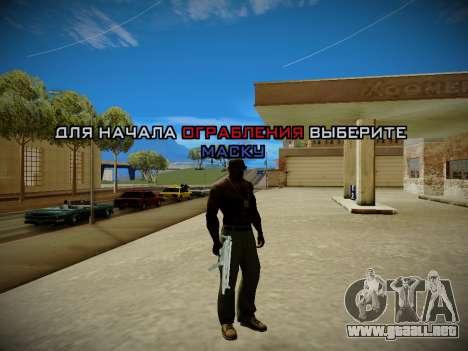 Sistema de robos v4.0 para GTA San Andreas segunda pantalla