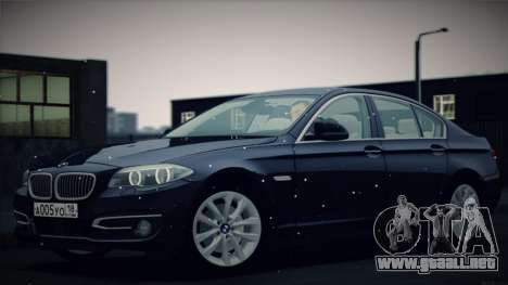 BMW 535i F10 para la vista superior GTA San Andreas