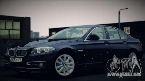 BMW 535i F10 para la vista superior GTA San Andreas