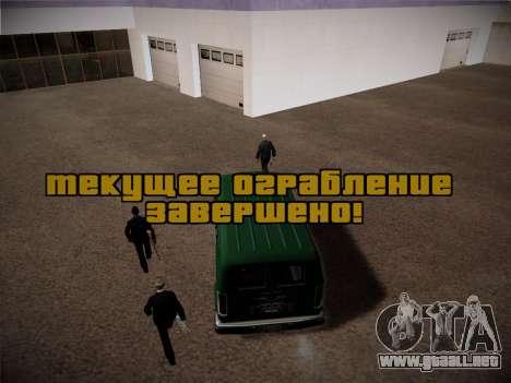 Sistema de robos v4.0 para GTA San Andreas