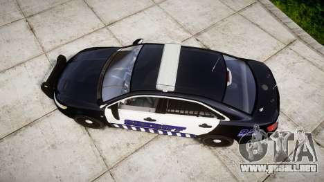 Ford Taurus 2014 Sheriff [ELS] para GTA 4 visión correcta