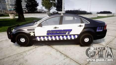Chevrolet Caprice 2012 Sheriff [ELS] v1.1 para GTA 4 left