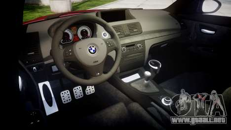 BMW 1M 2011 Sharpie para GTA 4 vista interior