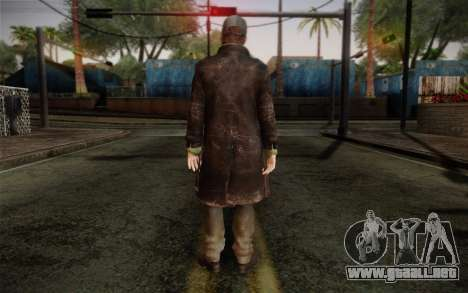 Aiden Pearce from Watch Dogs v2 para GTA San Andreas segunda pantalla