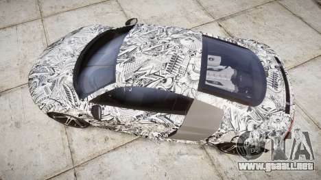 Audi R8 plus 2013 HRE rims Sharpie para GTA 4 visión correcta