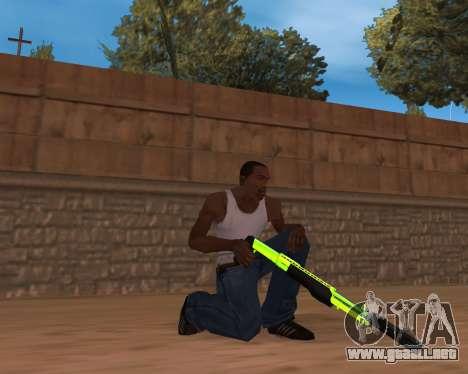 Chrome Green Weapon Pack para GTA San Andreas segunda pantalla