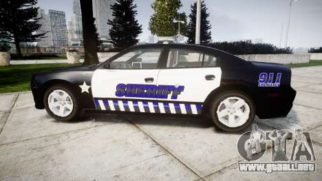 Dodge Charger RT 2014 Sheriff [ELS] para GTA 4 left