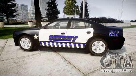 Dodge Charger RT 2014 Sheriff [ELS] para GTA 4 left