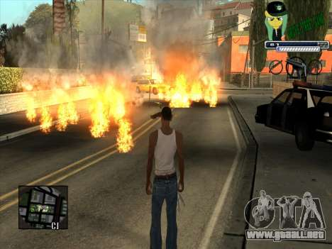C-HUD Grove Street Gang para GTA San Andreas tercera pantalla