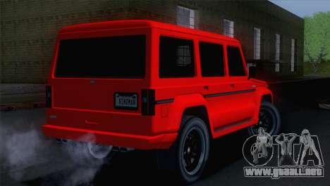 GTA 5 Benefactor Dubsta para GTA San Andreas left