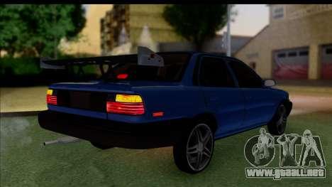 Toyota Corolla 1990 4-Door Sedan para GTA San Andreas left
