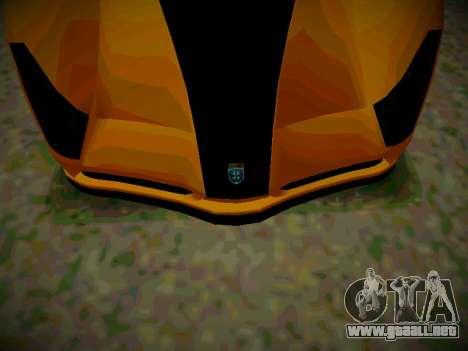 Cheetah из GTA 5 para GTA San Andreas vista posterior izquierda