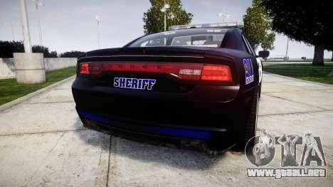 Dodge Charger RT 2014 Sheriff [ELS] para GTA 4 Vista posterior izquierda