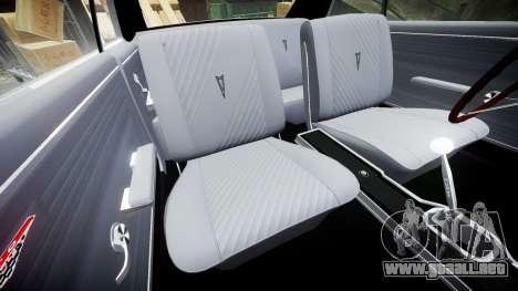 Pontiac GTO 1965 GeeTO Tiger para GTA 4 vista lateral