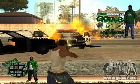 C-HUD Groove para GTA San Andreas quinta pantalla