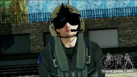 USA Helicopter Pilot from Battlefield 4 para GTA San Andreas tercera pantalla