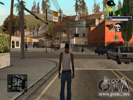 C-HUD Grove Street Gang para GTA San Andreas