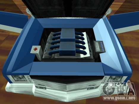 Buccaneer Turbo para GTA San Andreas vista hacia atrás