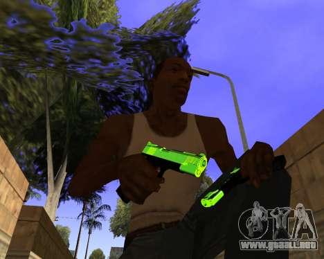 Chrome Green Weapon Pack para GTA San Andreas sucesivamente de pantalla
