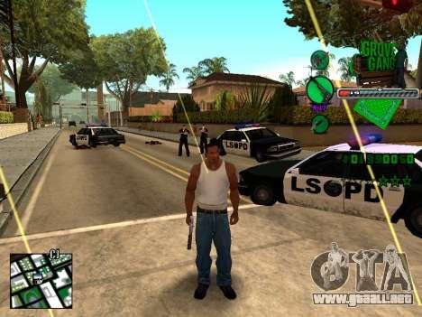 C-HUD Grove Street TAWER para GTA San Andreas segunda pantalla