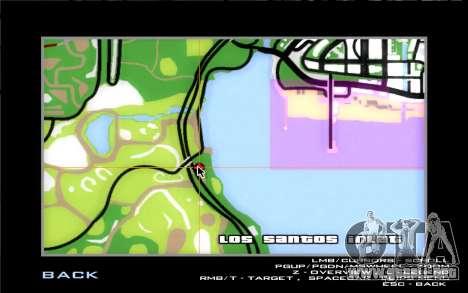 Carretera de garaje de Sigea para GTA San Andreas séptima pantalla