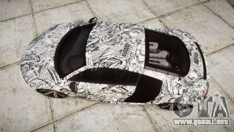 Audi R8 plus 2013 Wald rims Sharpie para GTA 4 visión correcta