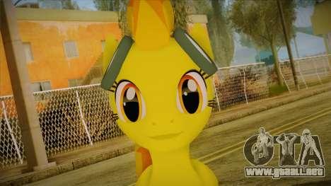 Spitfire from My Little Pony para GTA San Andreas tercera pantalla