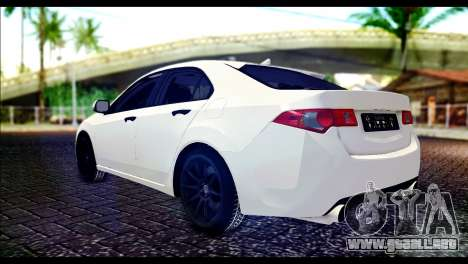 Honda Accord 2009 para GTA San Andreas left