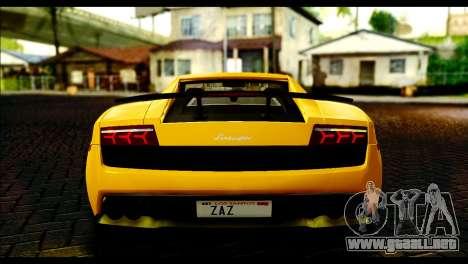 Lamborghini Gallardo LP 570-4 para la visión correcta GTA San Andreas